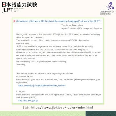 JLPT Juli 2020 dibatalkan