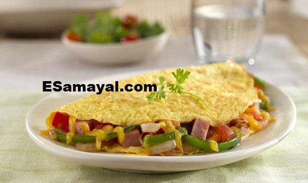 வெஜிடபிள் ஆம்லெட் செய்வது | Vegetable Omelette Recipe !