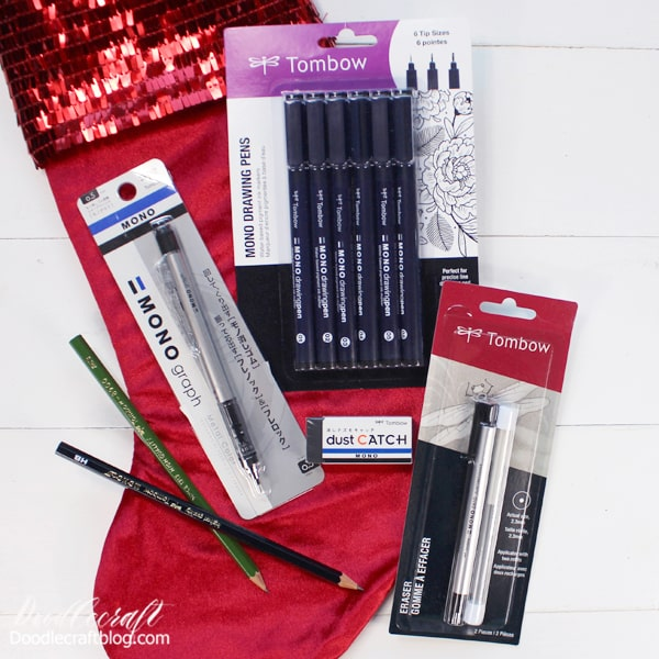 Stocking Stuffers #3: Sketching ($26.34) MONO Dust Catch Eraser: $1.59 MONO Drawing Pens 3pk: $8.67 (Pictured is the 6 pk: $16.99) MONO Graph Mechanical Pencil: $6.99 2 MONO Drawing Pencil: $2.80 MONO Zero Eraser: $6.29  --OR--  ($23.15) MONO Drawing Pencil Set with Eraser: $12.89 MONO Dust Catch Eraser: $1.59 MONO Drawing Pens 3pk: $8.67