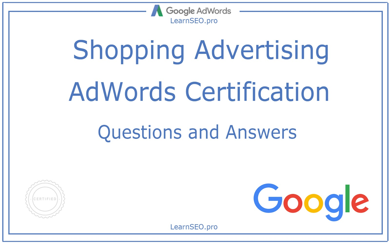 Adwords shopping advertising certification questions and answers shopping advertising certification certification google adwords 1betcityfo Image collections