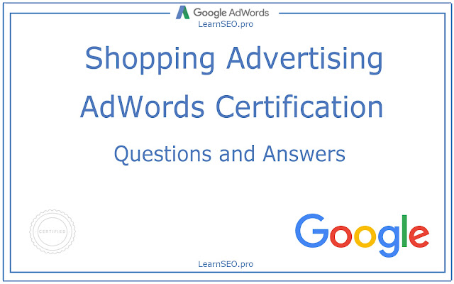 Shopping Advertising Certification
