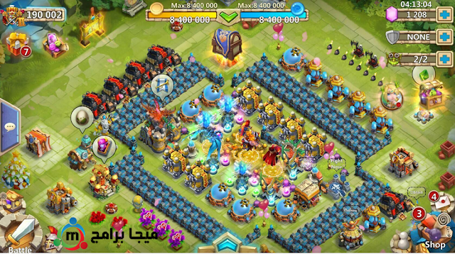 تحميل لعبة castle clash للكمبيوتر
