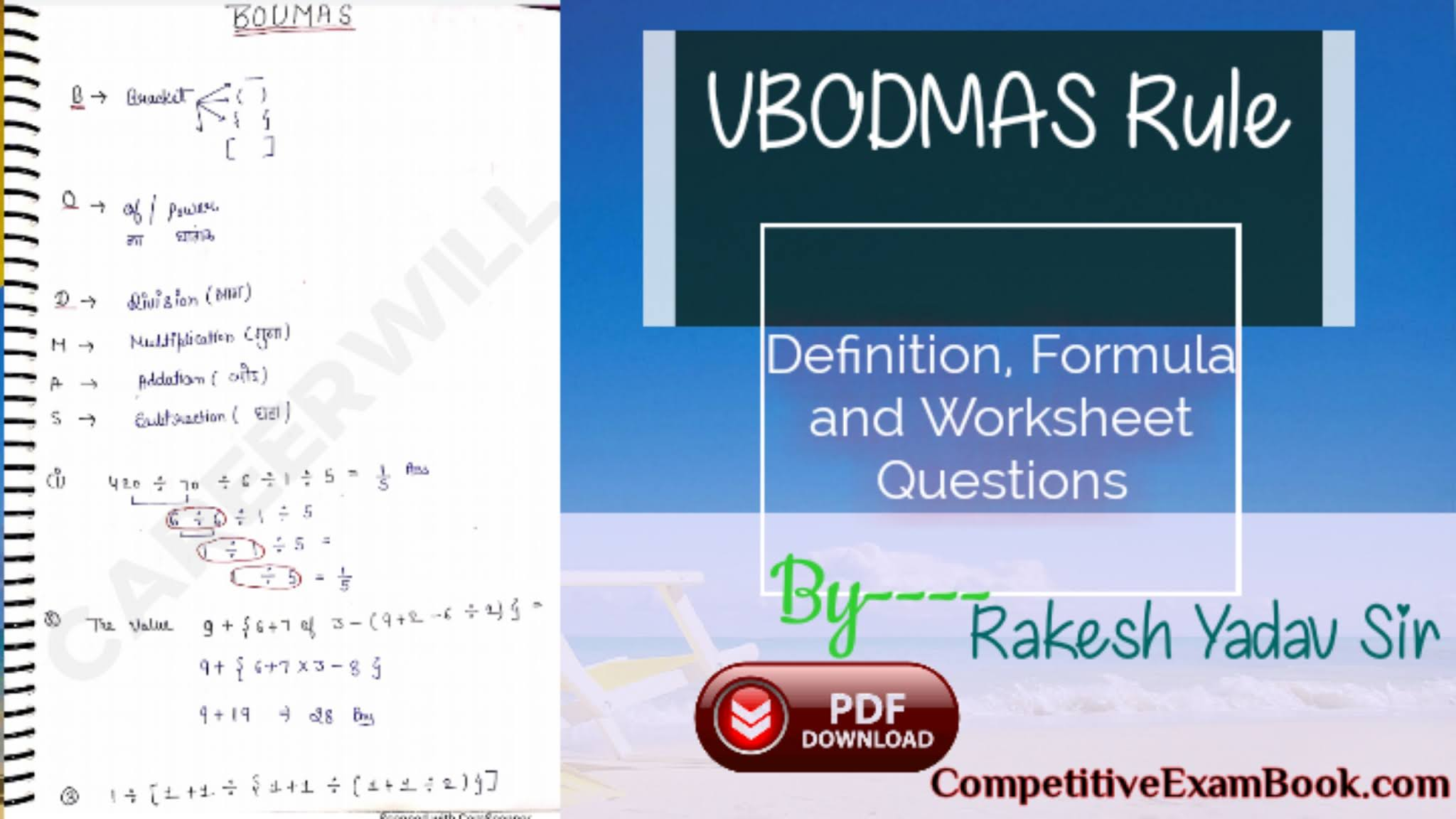 BODMAS Rule - Definition, Formula and Example Questions - Byju's