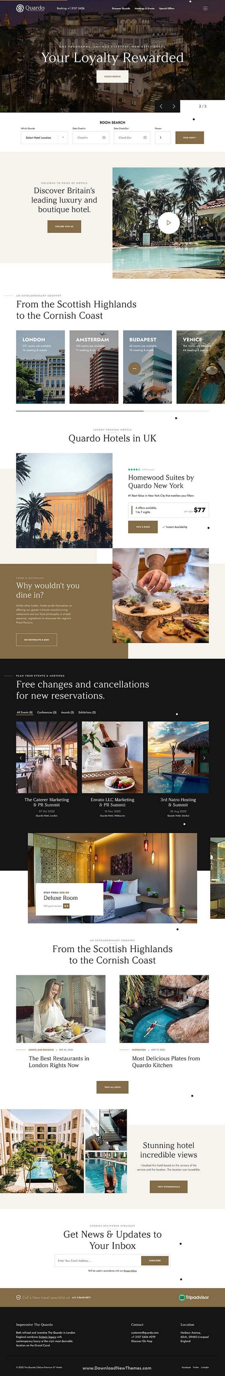 Deluxe Hotels WordPress Theme