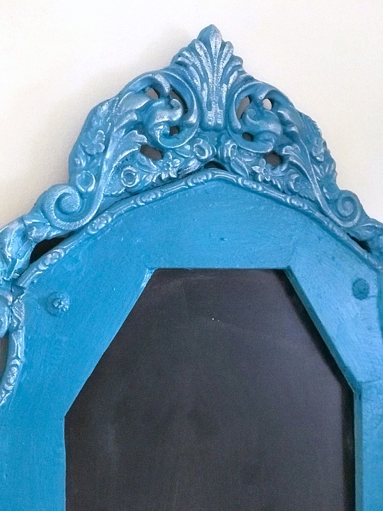 Using Gilding wax on an antique frame chalkboard