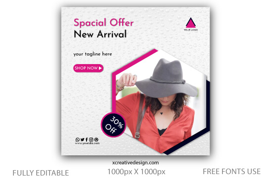 Fashion sale discount social media templates