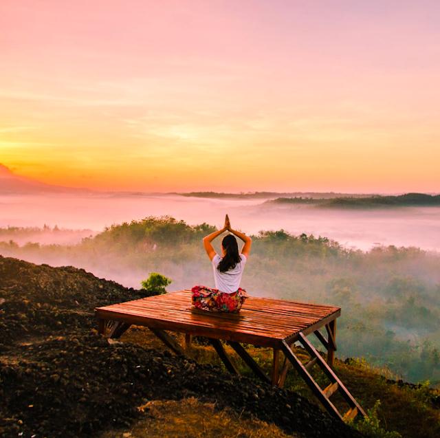Girl Meditating Outdoors