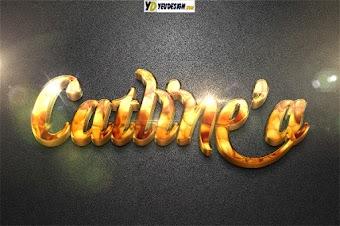 Chữ 3D vàng kim loại