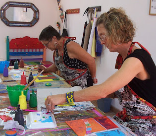 Painting workshop in Cristi Fer Studio