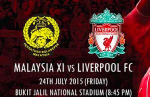 Live streaming Malaysia Vs Liverpool 24 Julai 2015