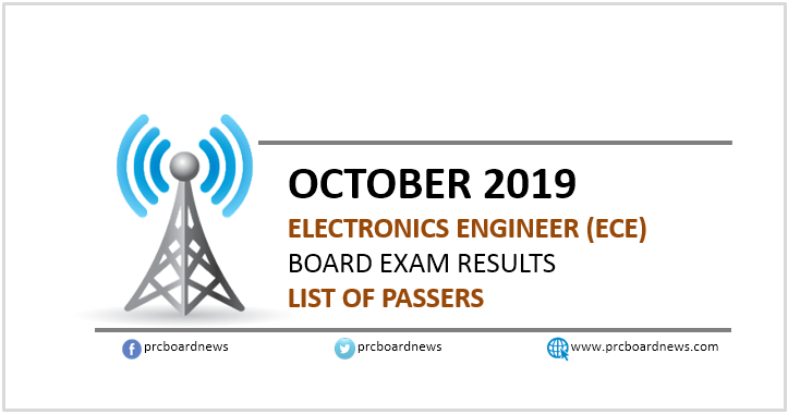 RESULT: October 2019 Electronics Engineer ECE board exam list of passers