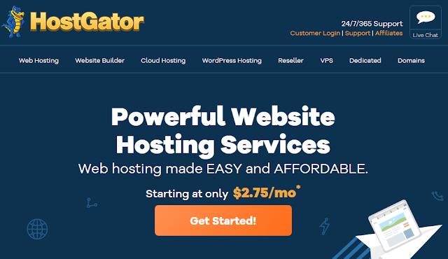 صورة العنوان أنشئ موقعك بسهولة مع عملاق الإستضافة HostGator