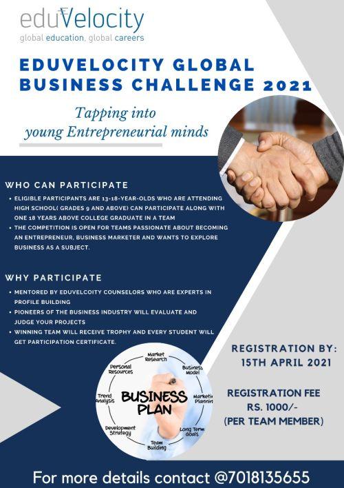 Eduvelocity Global Business Challenge 2021