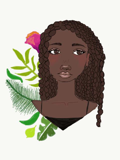 vector chica africana