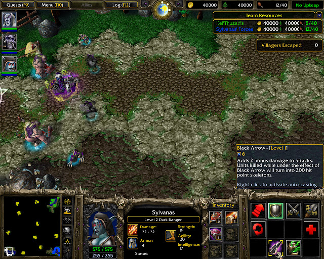 King Arthas Mission 16 | Sylvanas Hero Screenshot | Warcraft 3: The Frozen Throne