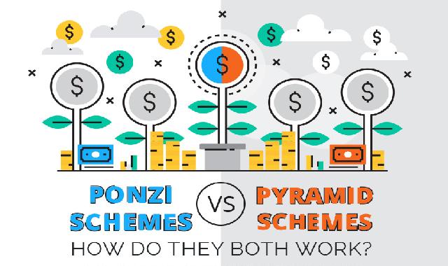 Ponzi Schemes vs Pyramid Schemes: How Do They Both Work? #infographic