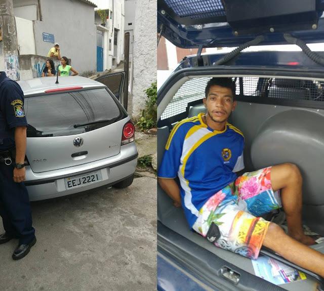 Guarda Civil de Diadema detém ladrão após roubar veículo nas proximidades do Largo do Rosinha