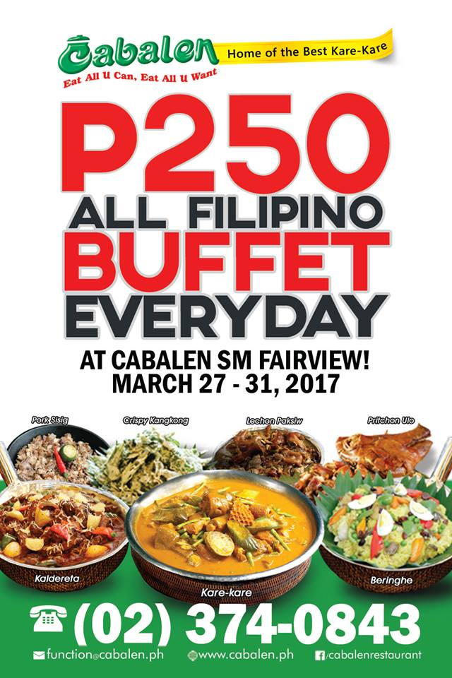 Manila Shopper Cabalen Sm Fairview Buffet Promo March 2017