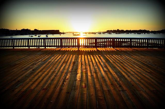 Remond Park, Sunrise, Salem, Massachusetts, shadows
