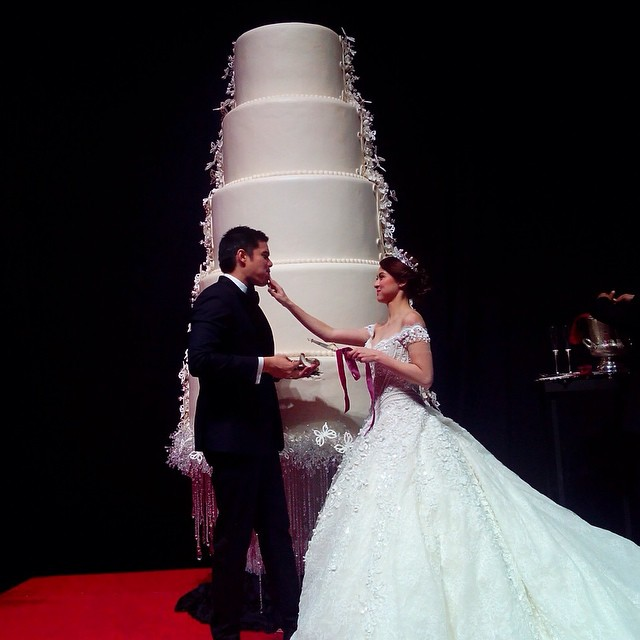 marian rivera wedding cake