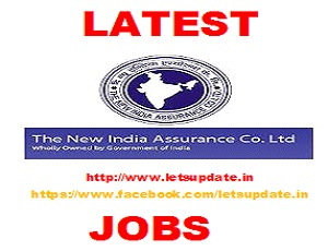 JOBS-NEW INDIA ASSURANCE COMPANY LIMITED-LETSUPDATE