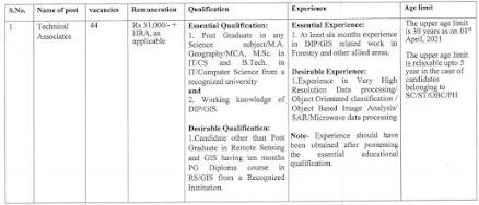 FSI Recruitment 2021 | Apply for 44 Vacancy of Technical Associate