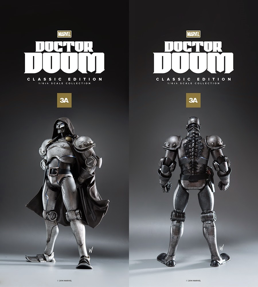 ThreeA x Marvel Doctor Doom 16 Scale Action Figures - Classic Edition