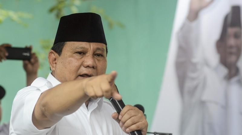 Prabowo Subianto saat berkampanye untuk Anies-Sandi