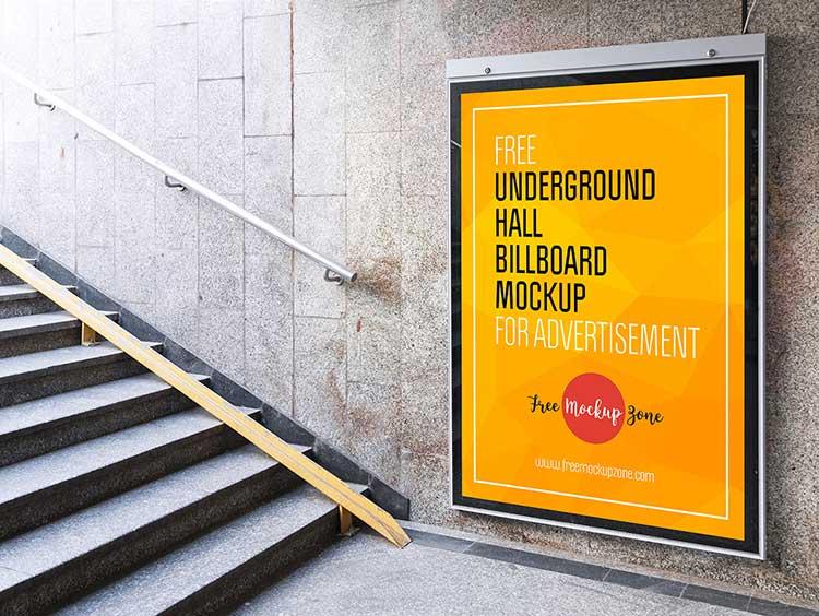 Underground Hall Billboard Mockup