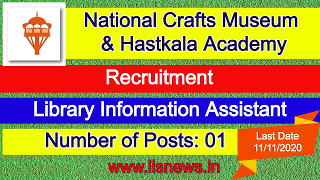 Library Information Assistant at National Crafts Museum & Hastkala Academy