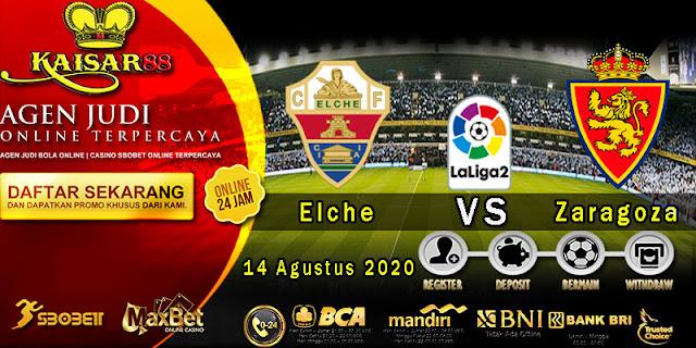 Prediksi Bola Terpercaya Liga Division Elche vs Zaragoza 14 Agustus 2020