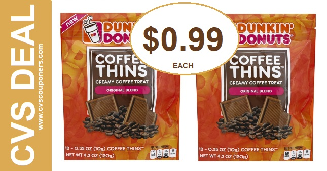 CVS Dunkin Donuts Coffee Thins Deal