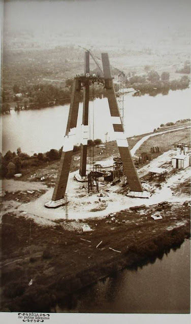 1982 год. Рига. Закюсала. Строительство Телебашни