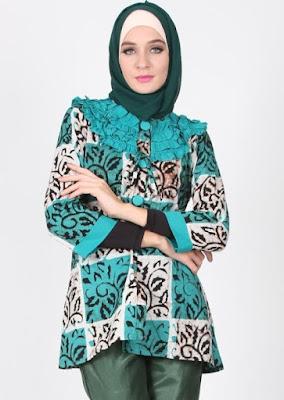 Baju Batik Kombinasi Terbaru