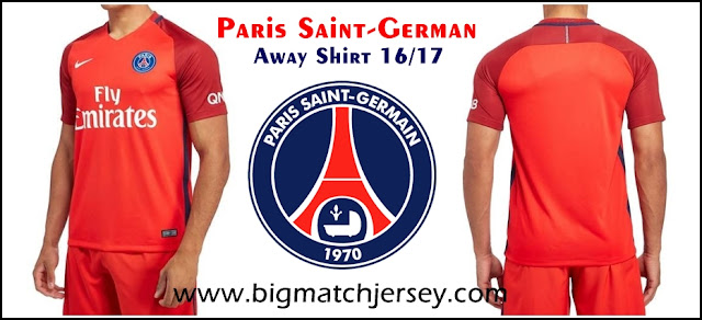 Nike Paris Saint Germain 2016-17 Away Shirt