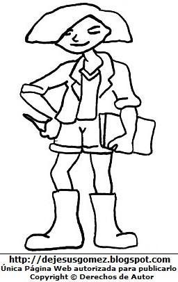 Dibujo de un joven adolescente para colorear pintar imprimir, estudiante con su cuaderno en la mano. Dibujo de un joven de Jesus Gomez