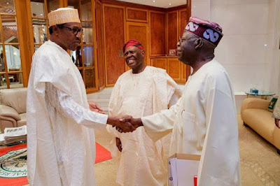 PHOTOS: Buhari's Meeting With APC Leader Bola Tinubu