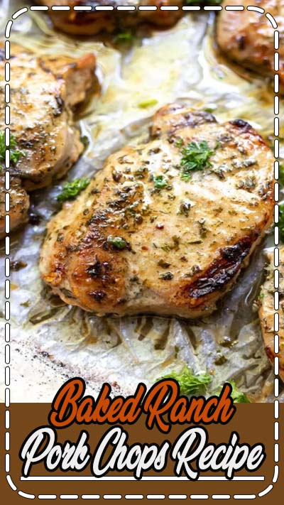 Baked Ranch Pork Chops are a quick, inexpensive and easy dinner recipe. The entire family will love these pork chops, perfect for weeknight dinner.