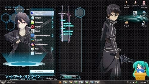 theme windows 7 anime