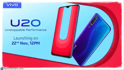 Vivo U20 8GB Slam Version Propelled in India: Check Cost, Details, Deal Offers