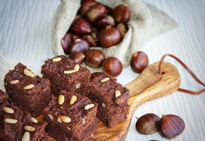 brownies castagne cioccolato e pinoli