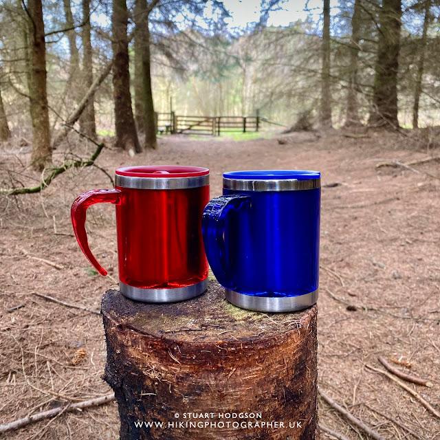 Hiking couple together love tea flask Osmotherley walk Cleveland Way Square Corner Yorkshire walks