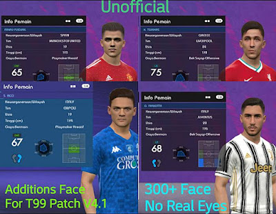 PES 2017 Mega Facepack for T99 Patch