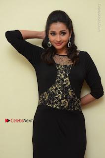 Telugu Actress Manasa Manohar Stills in Black Long Dress at Naku Nene Thopu Turumu Trailer Launch  0047.JPG