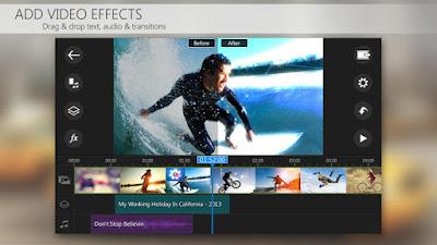 Aplikasi editing video Android : PowerDirector