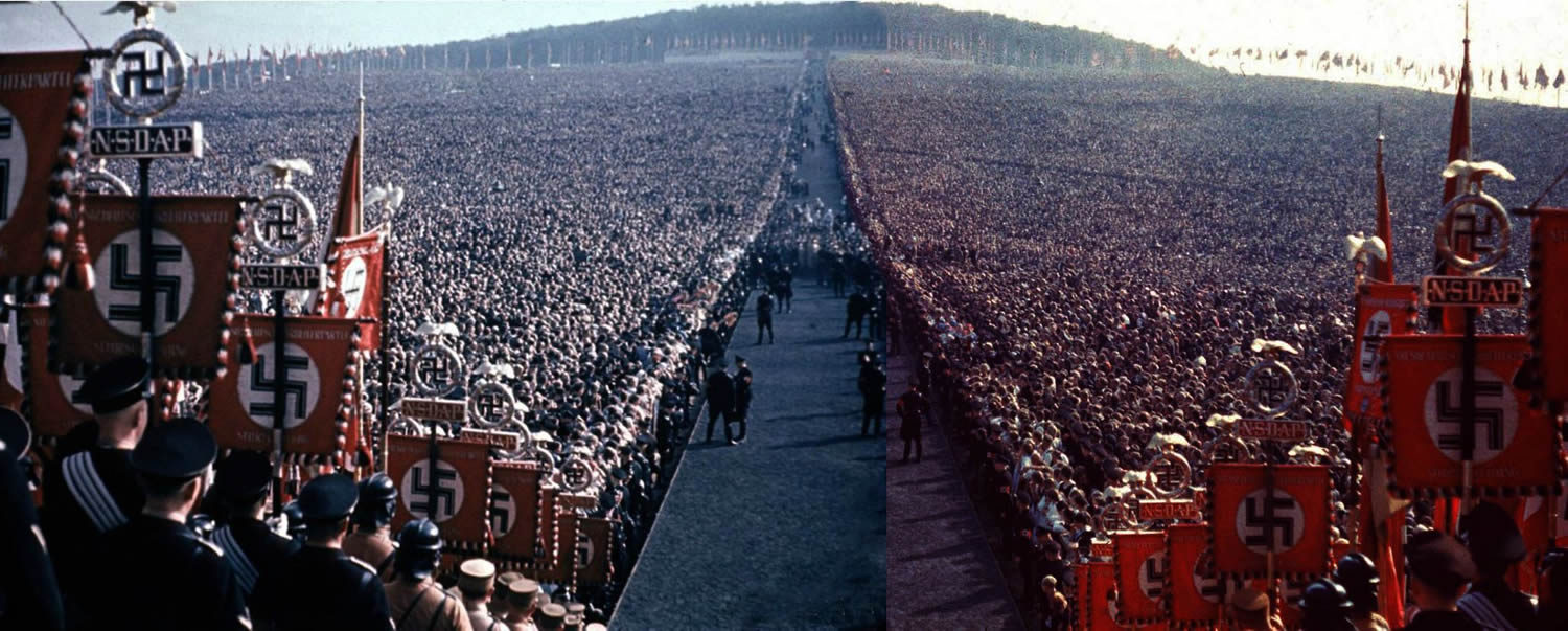 Huge gathering at nuremberg