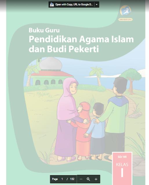 Buku Guru SD MI K13 Revisi 2017 Pendidikan Agama Kelas 1