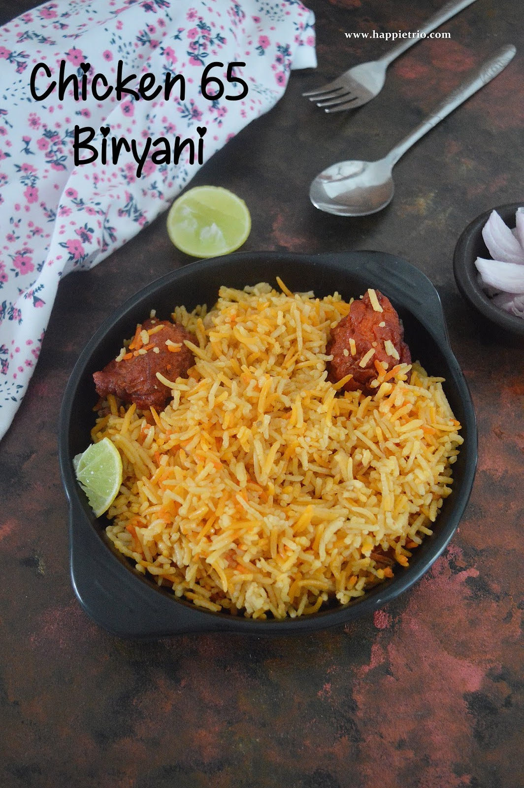 Chicken 65 Biriyani Recipe | How to cook Chicken 65 Biryani.