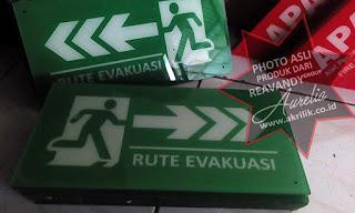Signage acrylic exit