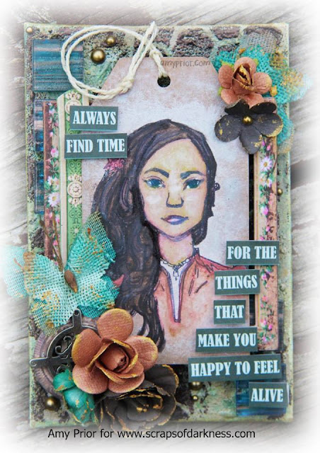 Scraps of Darkness scrapbook kits: Mixed media canvas video tutorial
